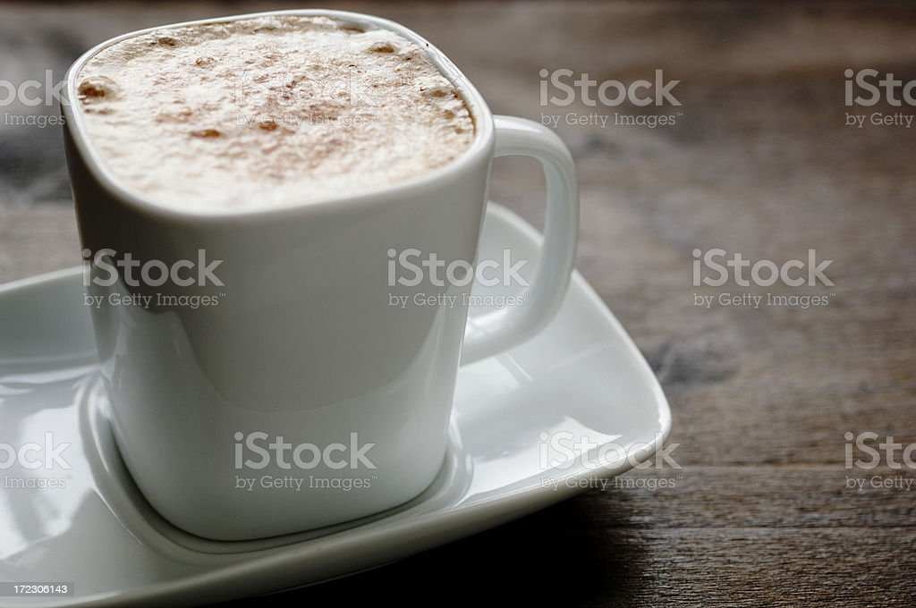 cup of cappuccino coffee royalty-free stock photo
