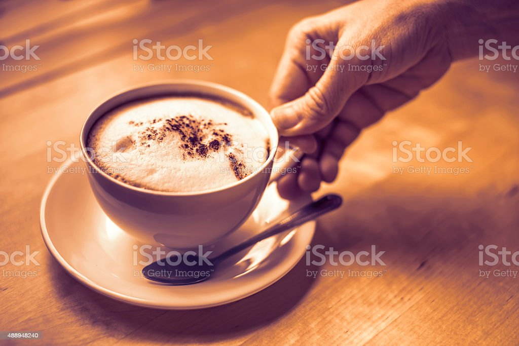 Cup of cappuccino. royalty-free stock photo
