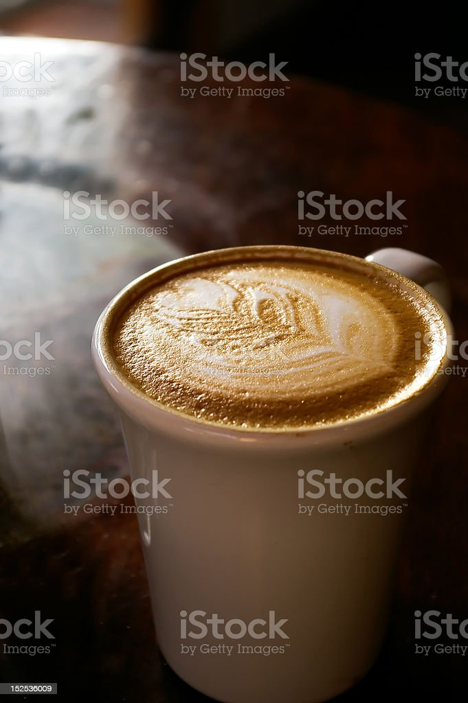 Cup of cappuchino royalty-free stock photo
