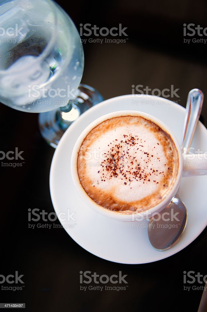 Cup of cappucinno royalty-free stock photo