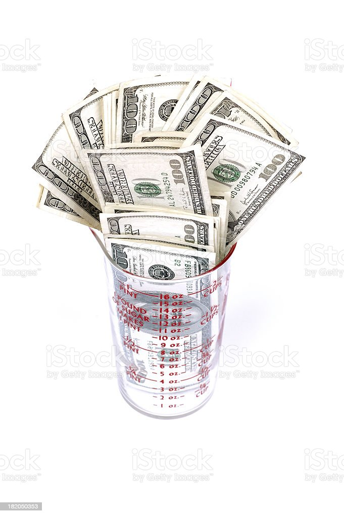 Cup of Cash royalty-free stock photo