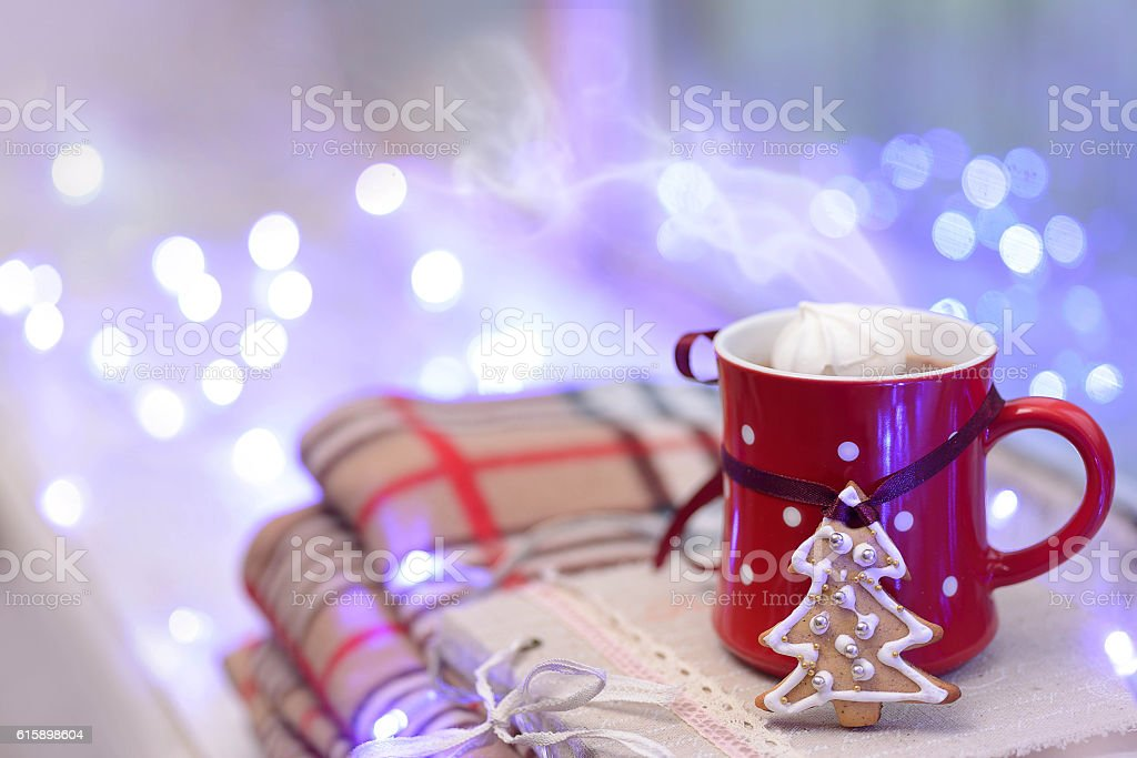 Cup of Christmas stock photo