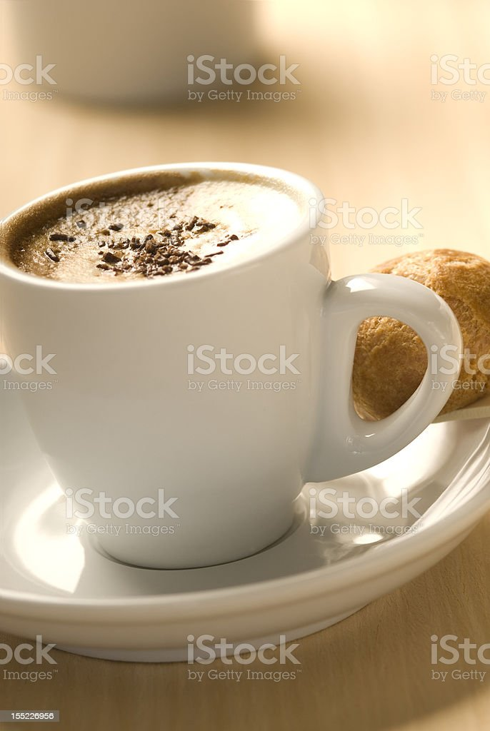 cup of coffe and milk royalty-free stock photo