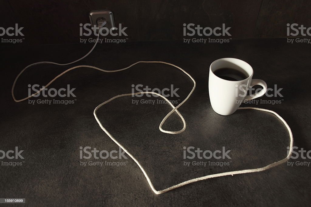 cup of coffe gives power royalty-free stock photo