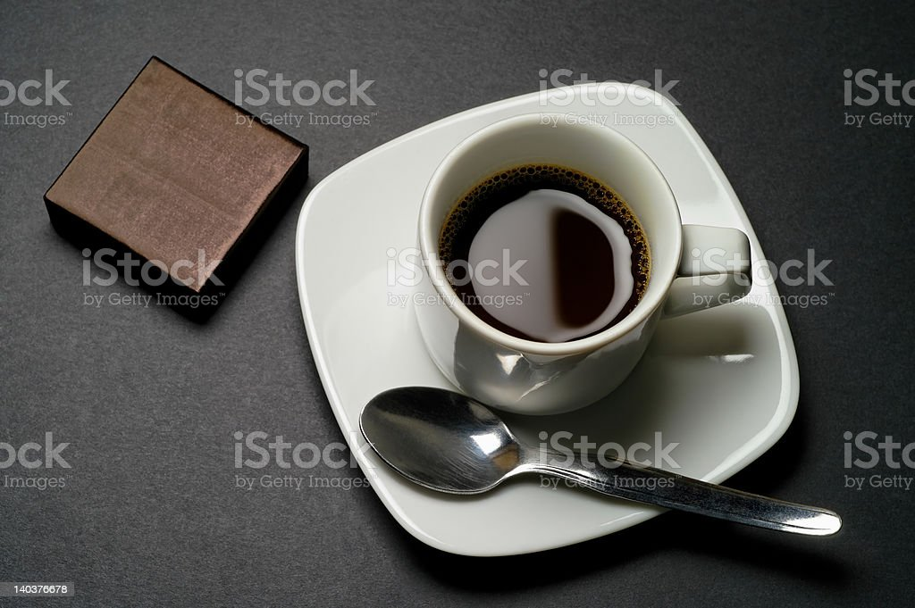 Cup of coffee and biscuit royalty-free stock photo