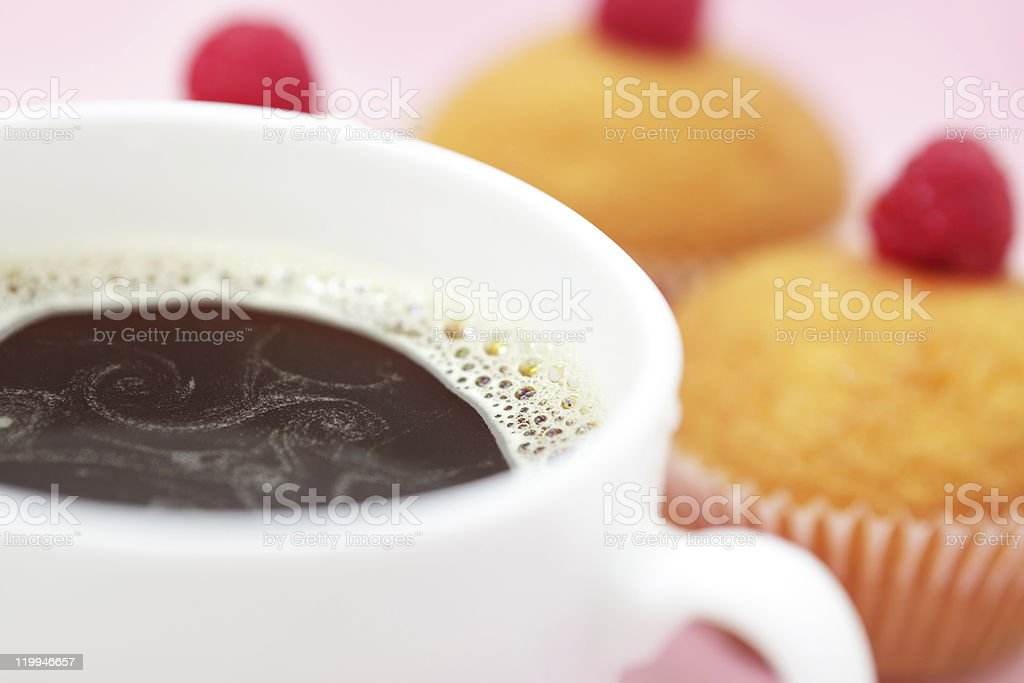 Cup of Coffee and muffins royalty-free stock photo