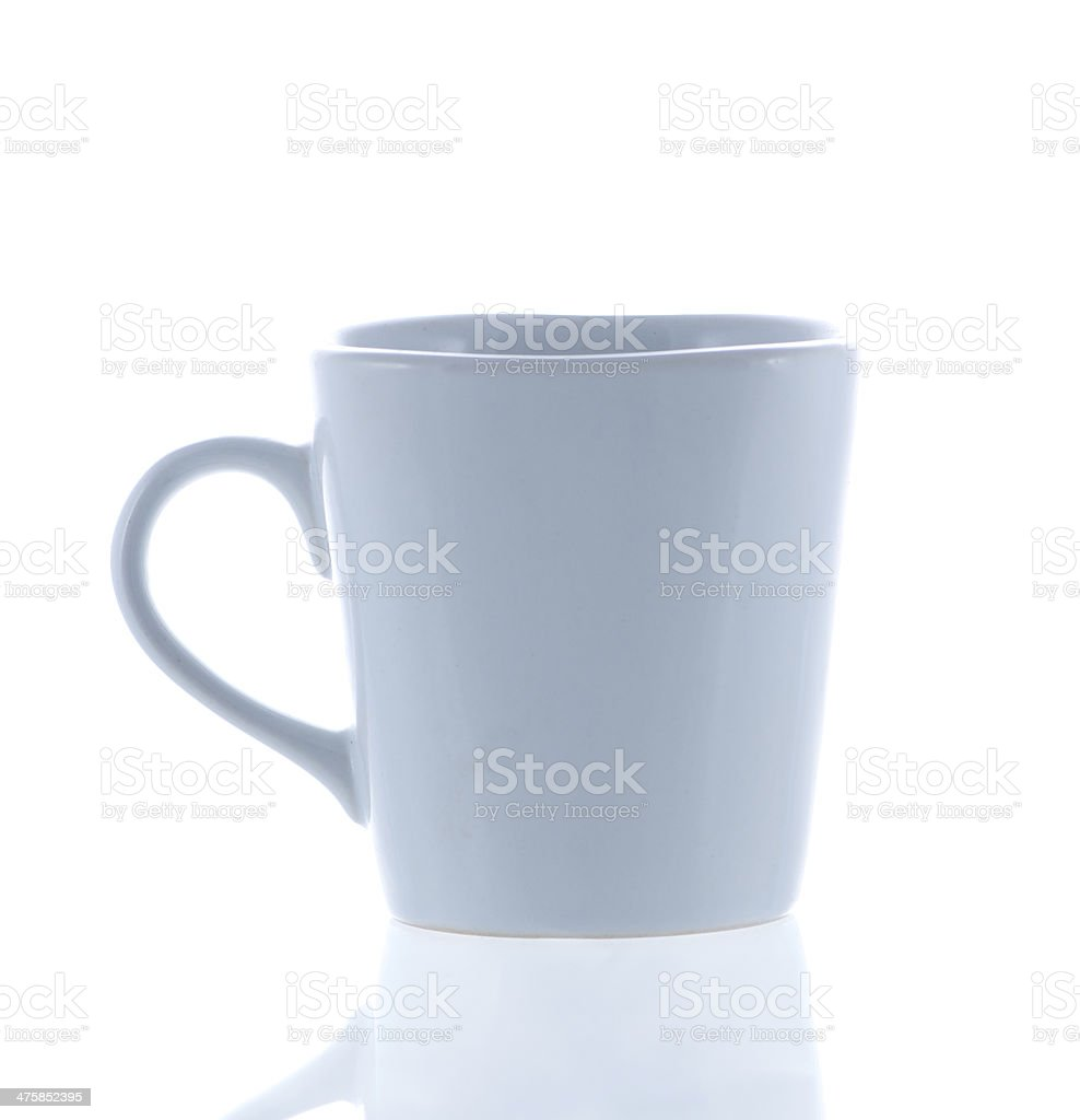 cup of coffee and reflection royalty-free stock photo