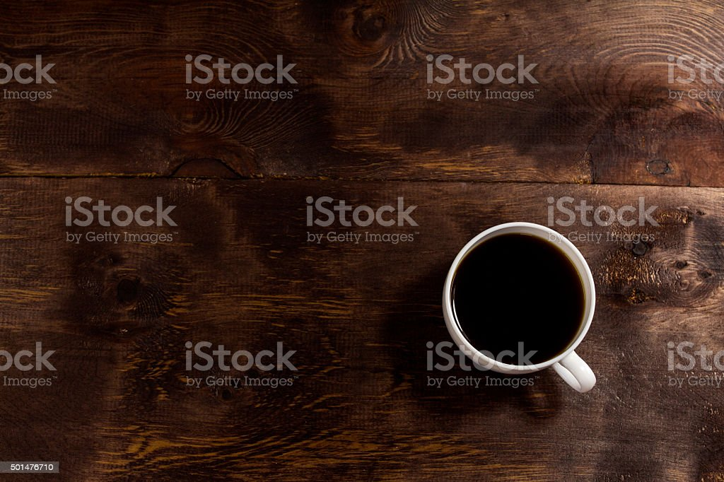 Cup of coffee background stock photo