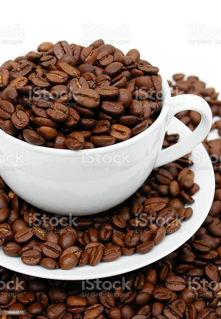 Cup of Coffee Beans royalty-free stock photo
