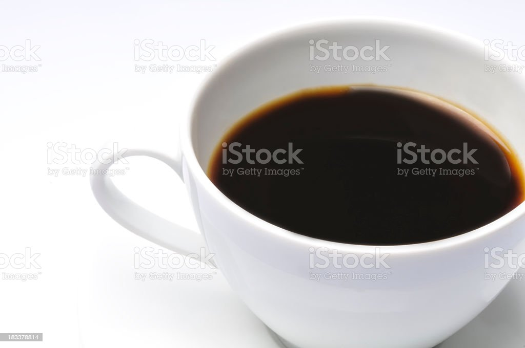 Cup of coffee close up stock photo
