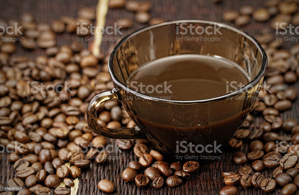 Cup of coffee close-up royalty-free stock photo
