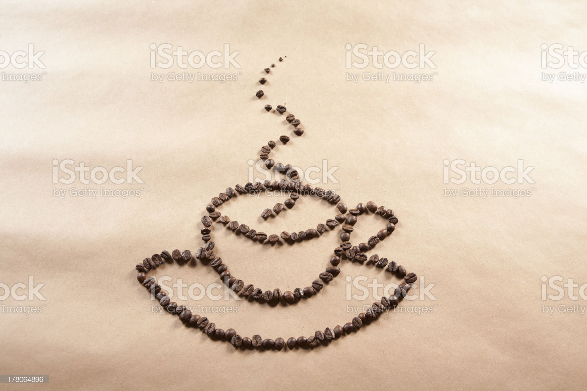 Cup of coffee from beans royalty-free stock photo