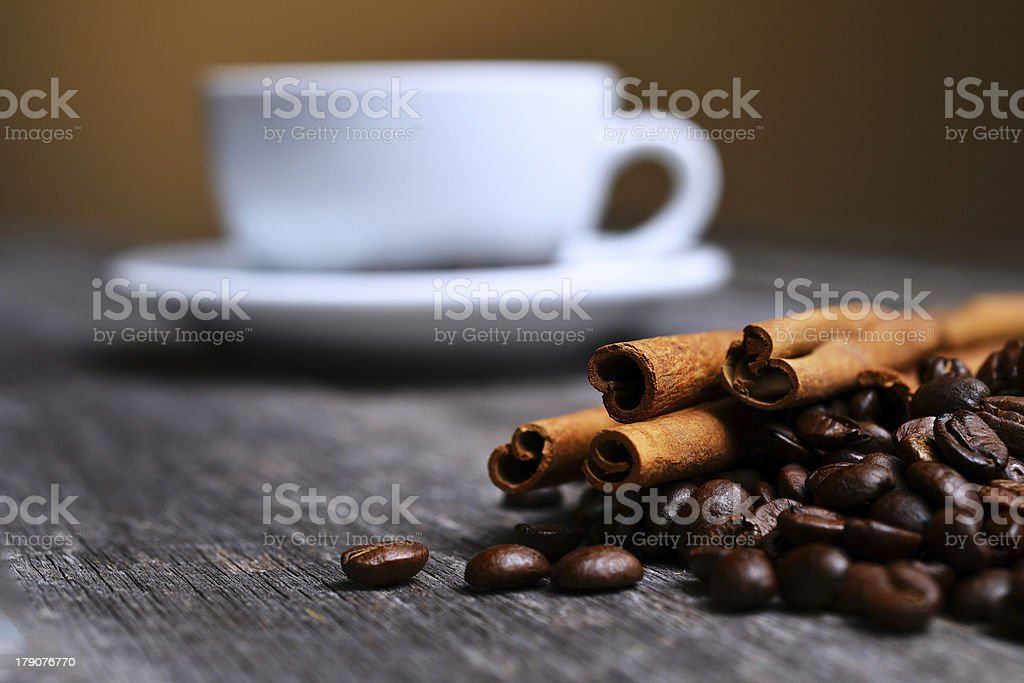 cup of coffee grains royalty-free stock photo