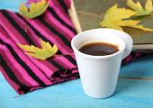 Cup of coffee in autumn set