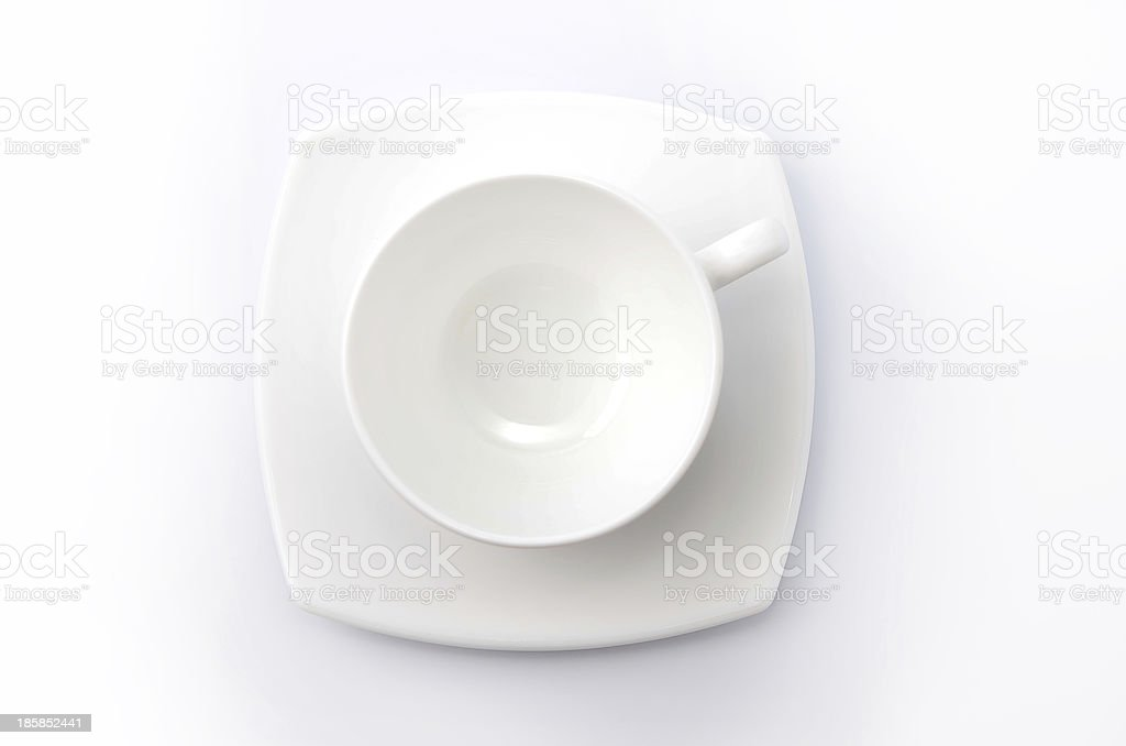 Cup of coffee isolated on white backround royalty-free stock photo
