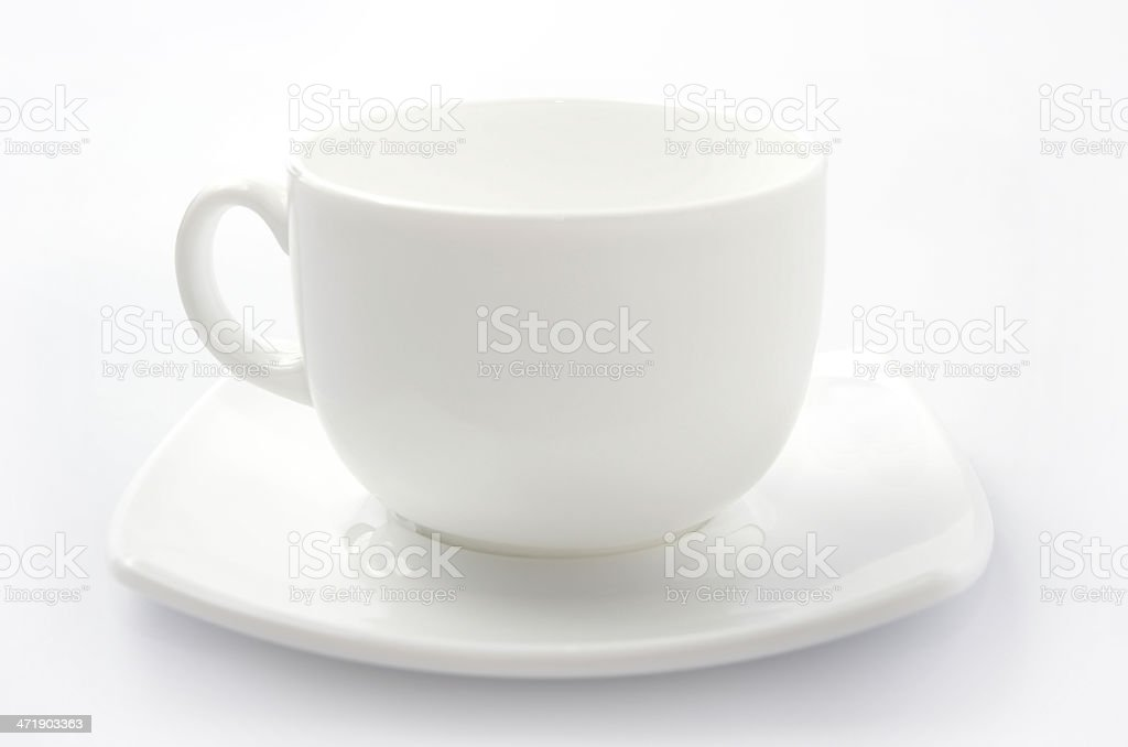 Cup of coffee isolated on white royalty-free stock photo