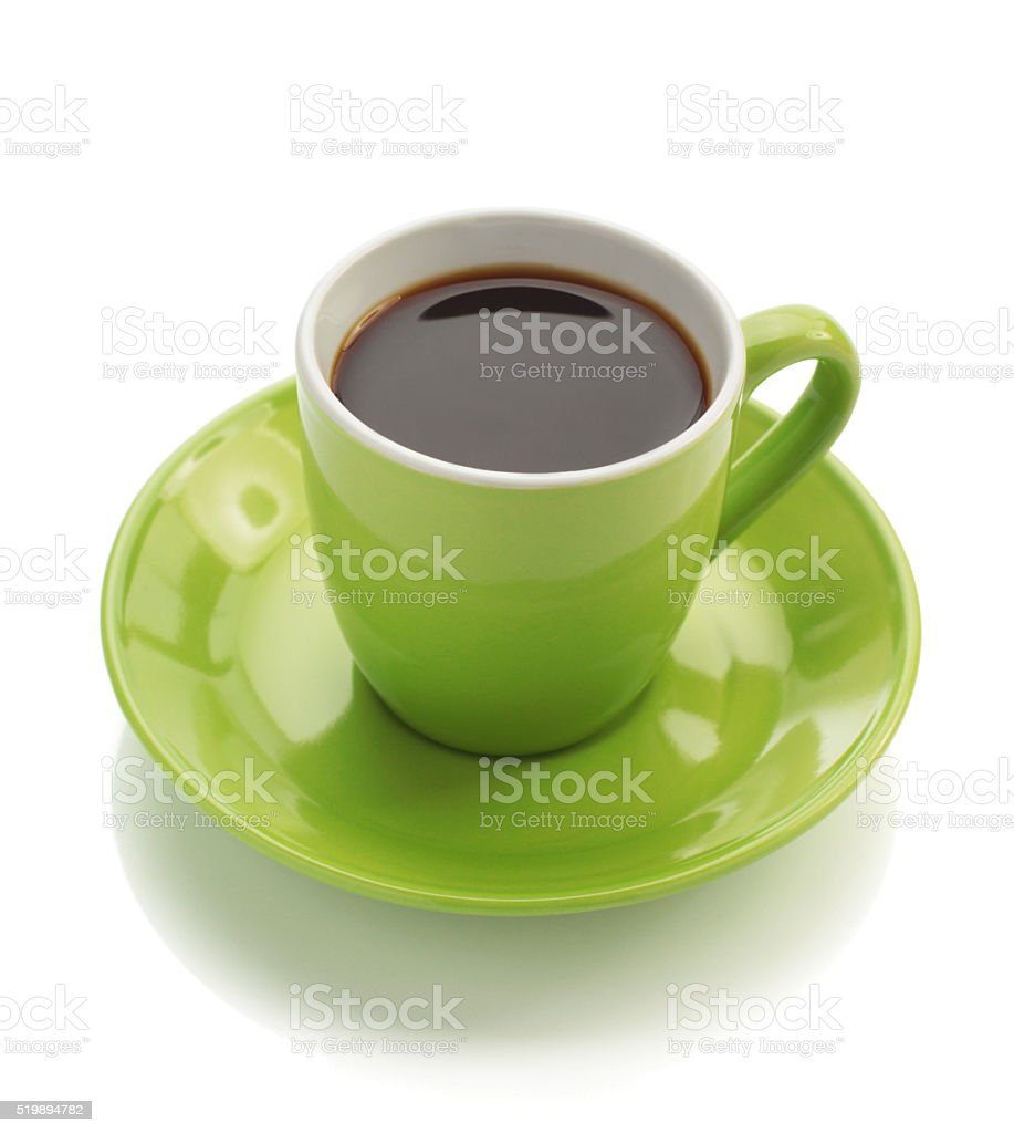 cup of coffee isolated on white stock photo
