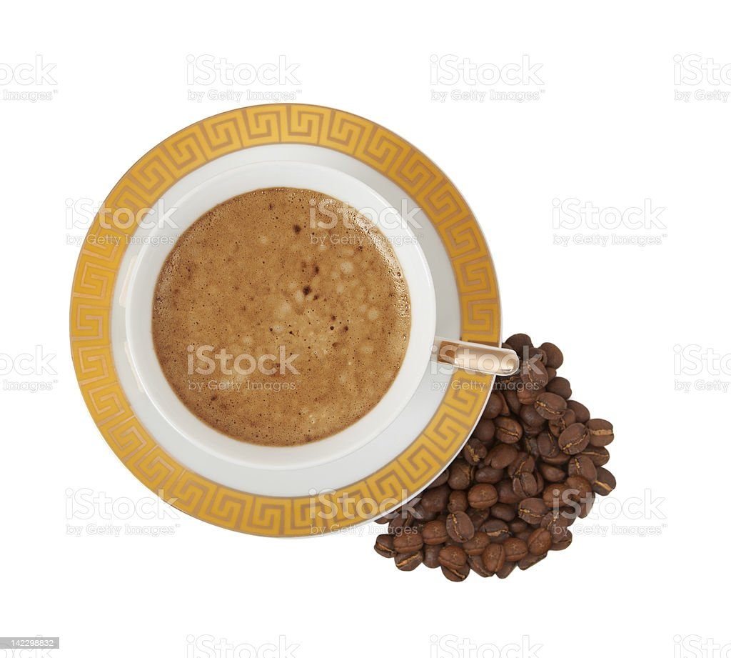 cup of coffee on a white background royalty-free stock photo