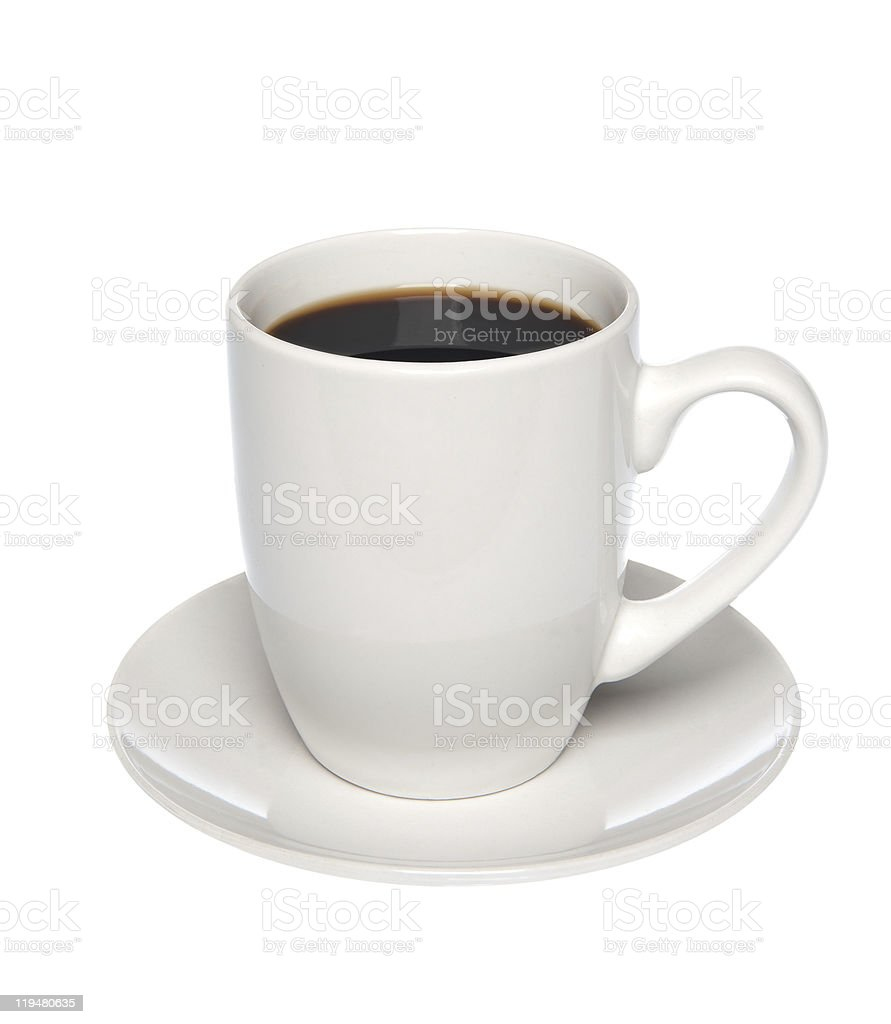 Cup of coffee on saucer royalty-free stock photo