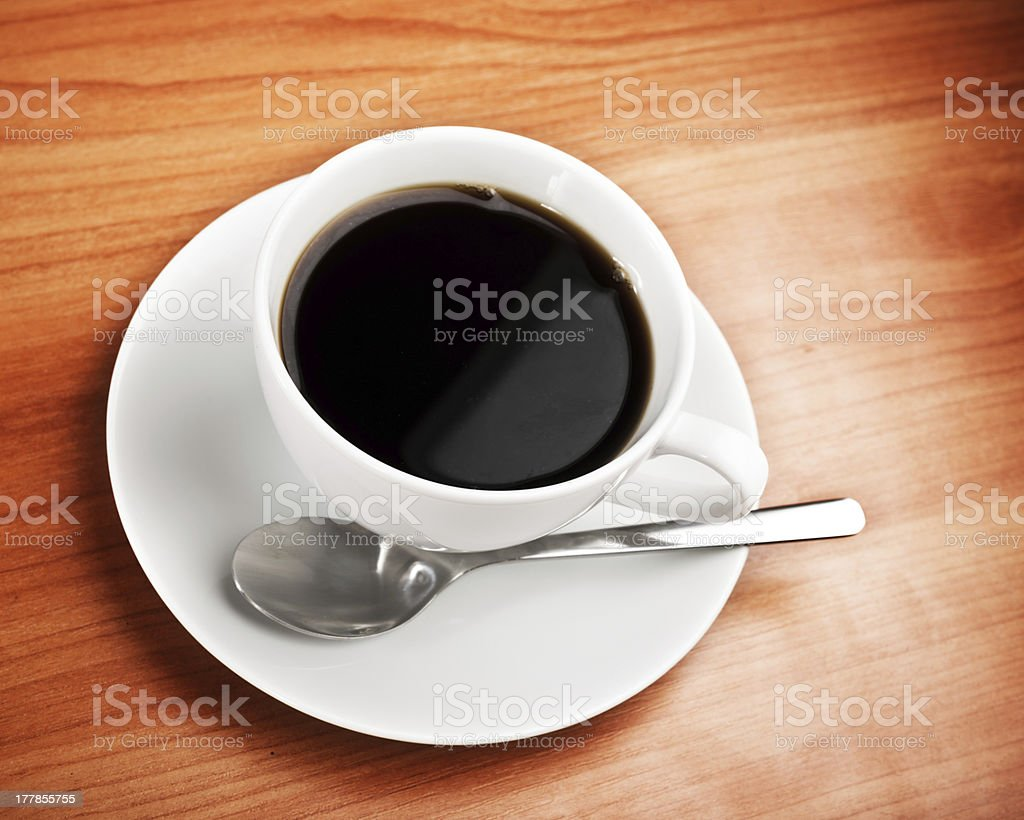 cup of coffee on table royalty-free stock photo
