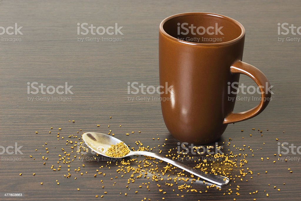 cup of coffee on the table royalty-free stock photo