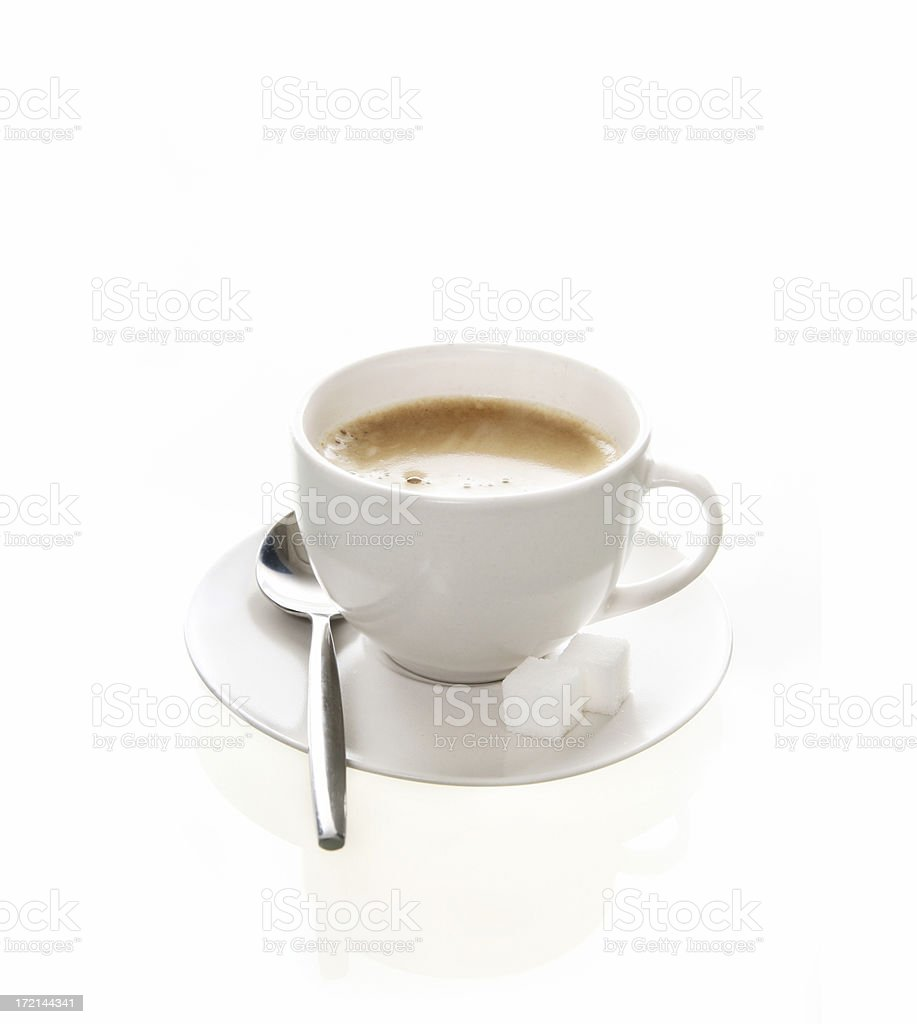 Cup of coffee on white royalty-free stock photo