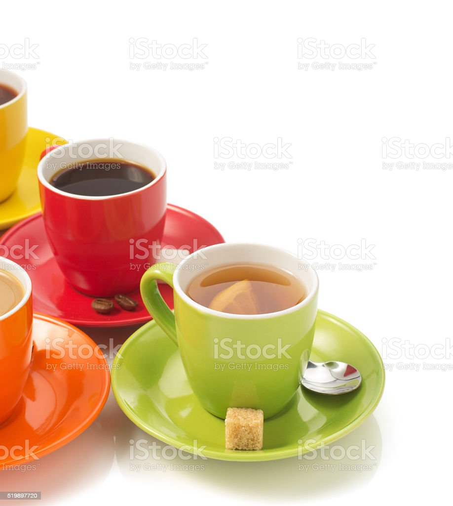 cup of coffee on white stock photo