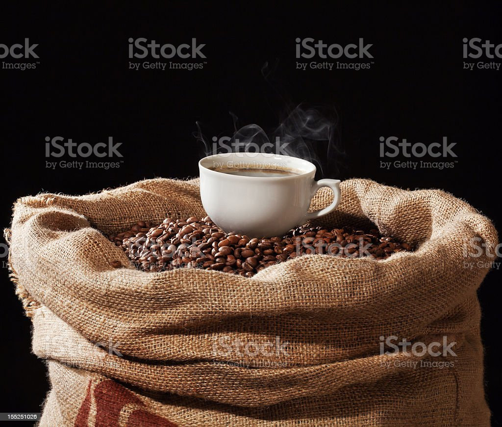 Cup of coffee royalty-free stock photo