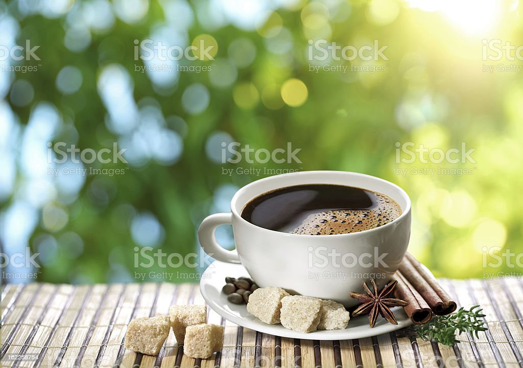 Cup of coffee. royalty-free stock photo