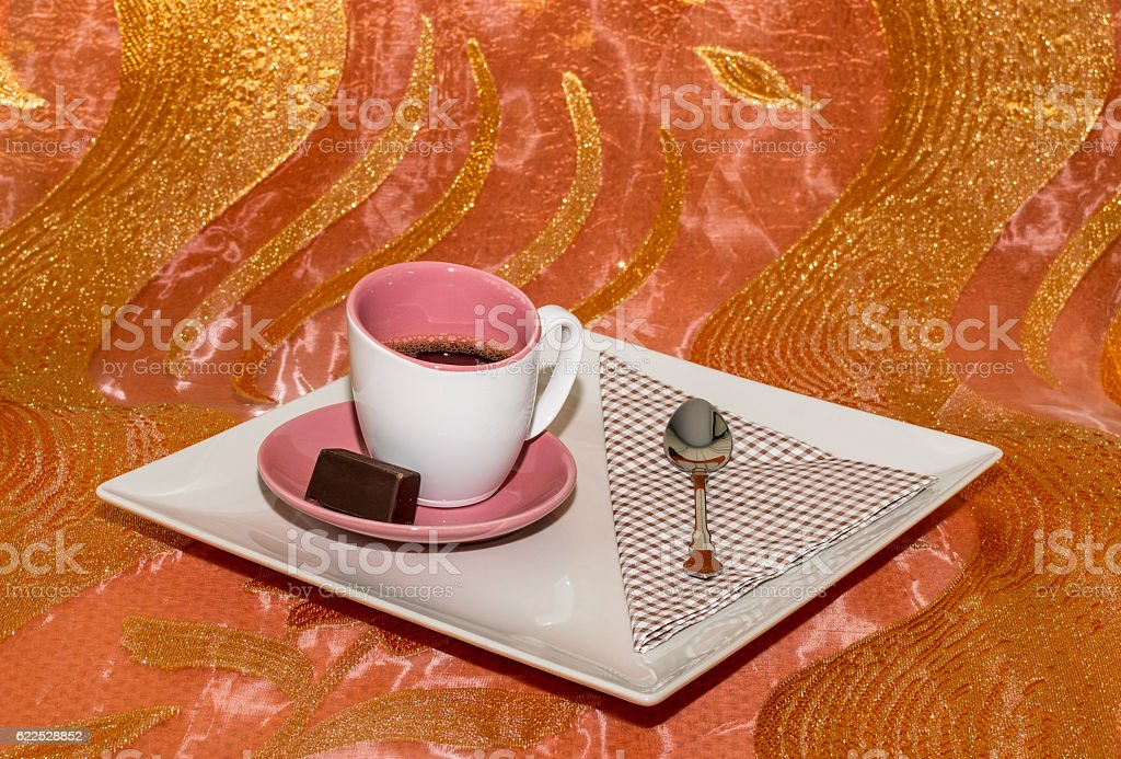 Cup of coffee . stock photo