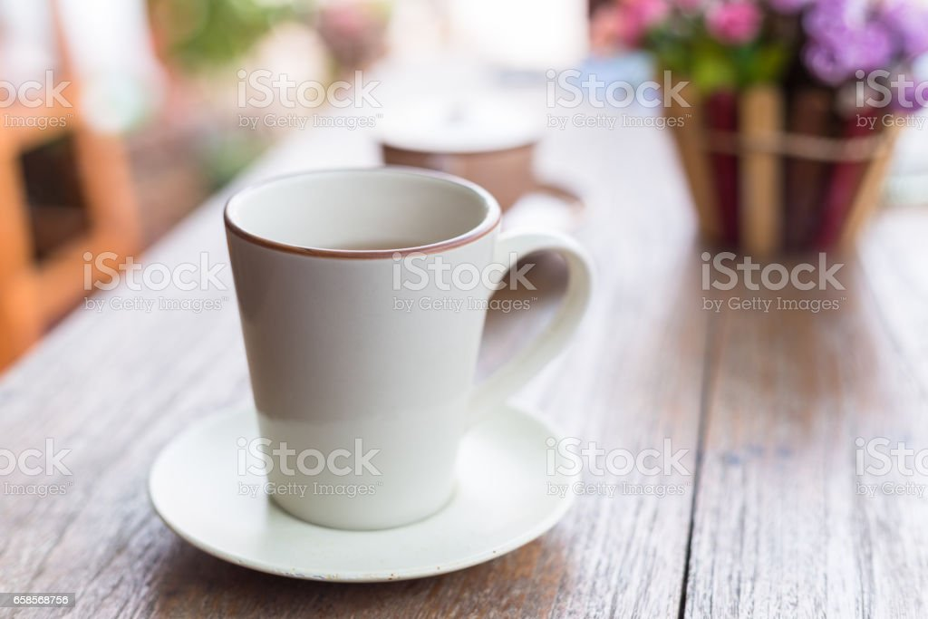 A cup of coffee stock photo