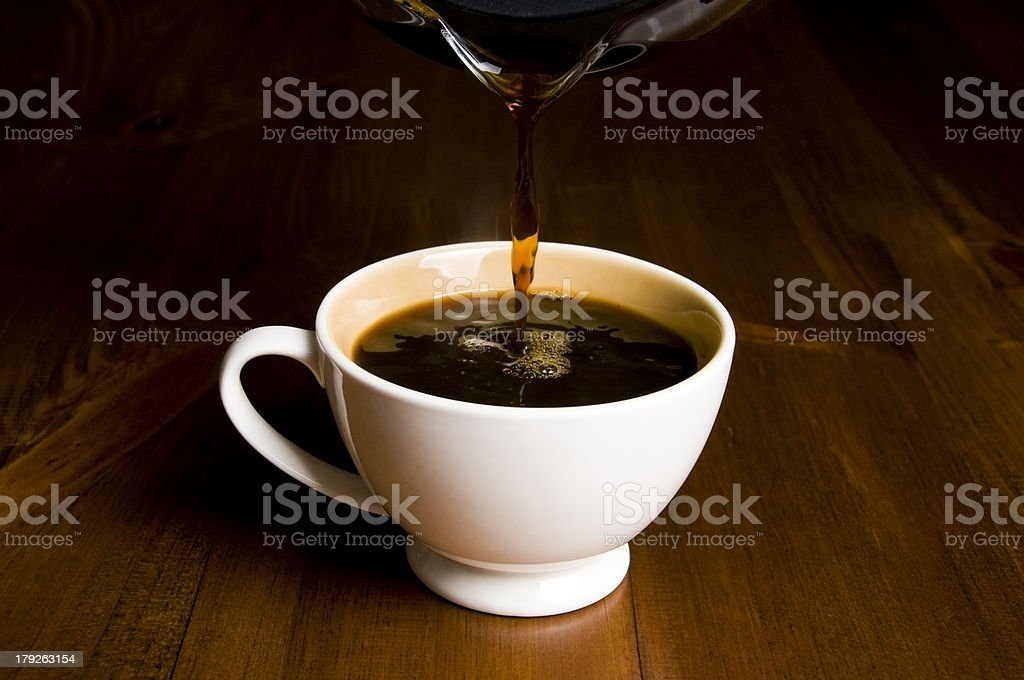 Cup of Coffee, Pouring royalty-free stock photo