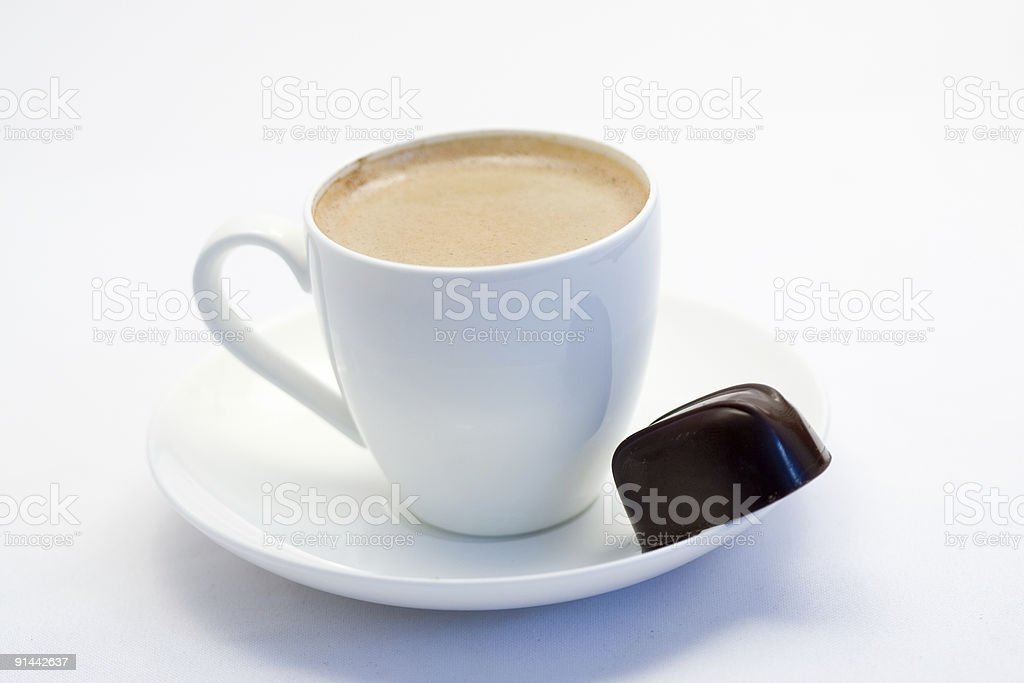 cup of coffee with chocolate royalty-free stock photo