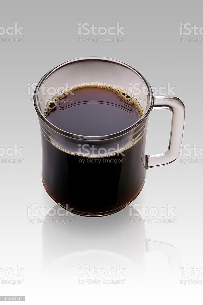 Cup of coffee with clipping path royalty-free stock photo