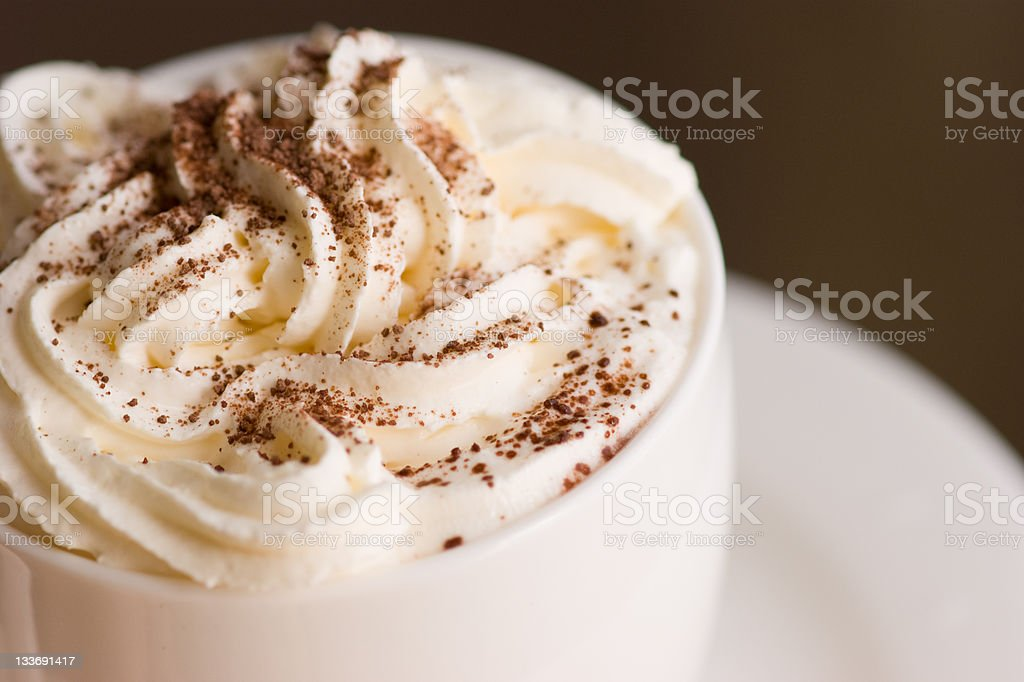 cup of coffee with cream stock photo