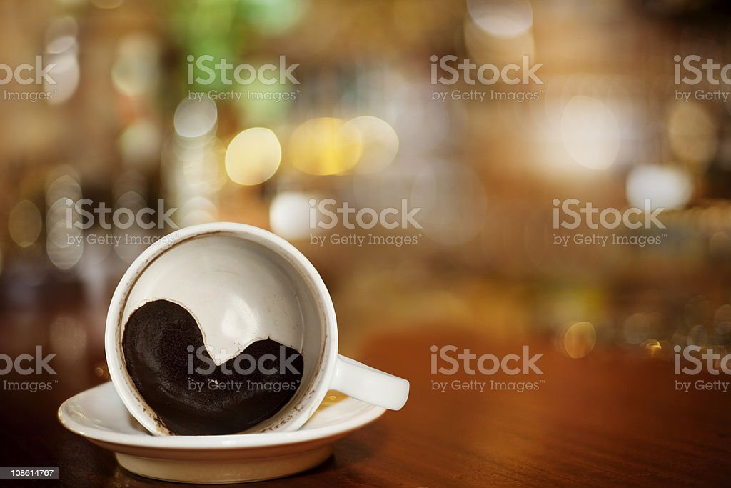 cup of coffee with Heart royalty-free stock photo