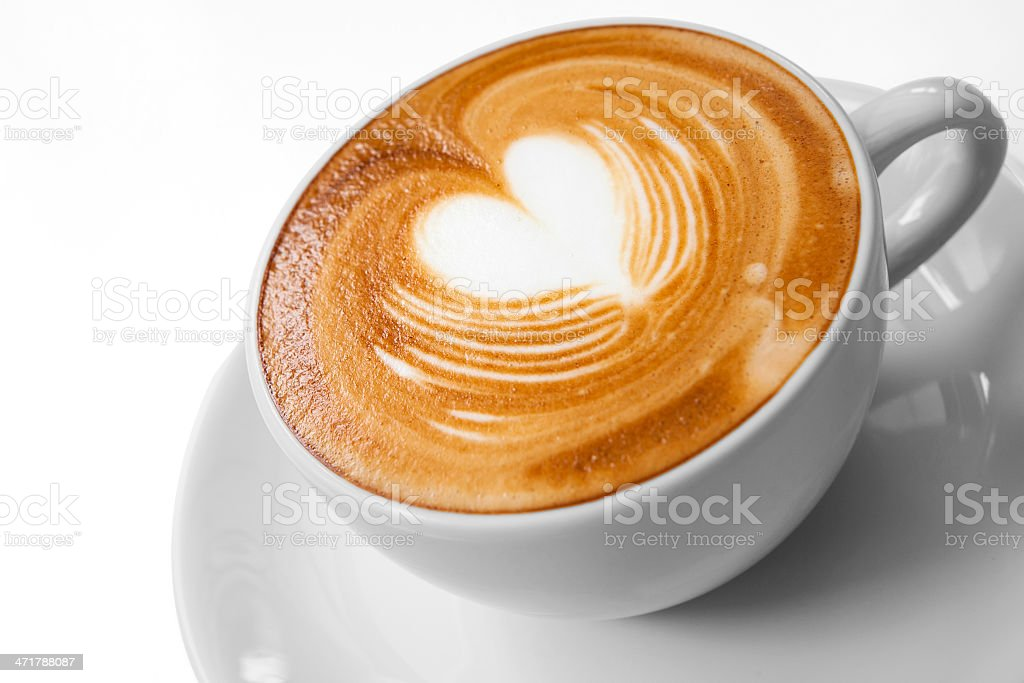 Cup of coffee with Love stock photo