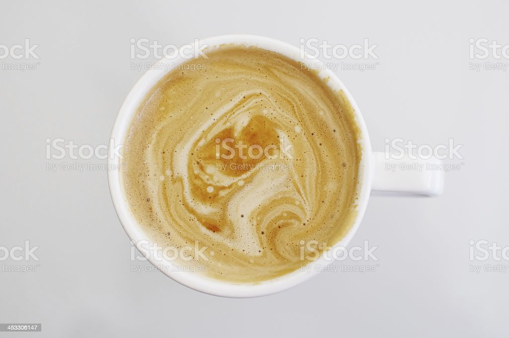 Cup of coffee with skin stock photo