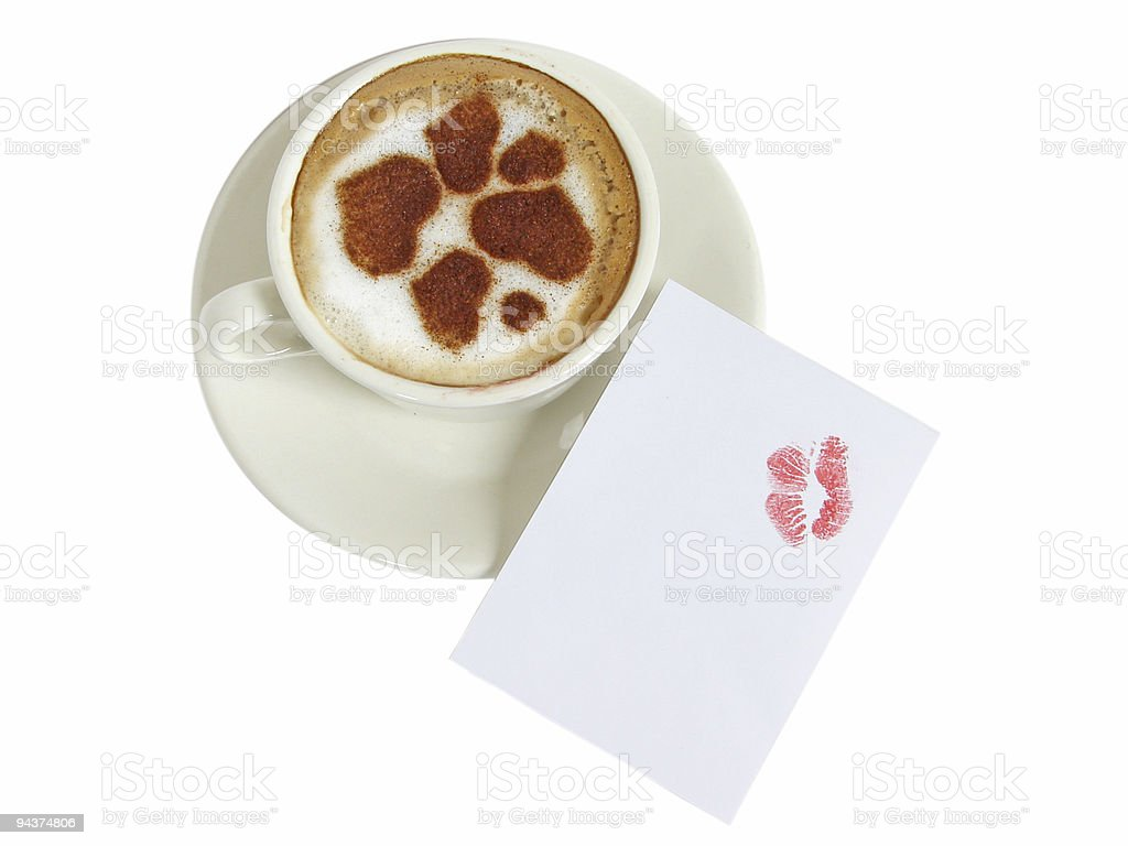 Cup of coffee-cappuccino royalty-free stock photo
