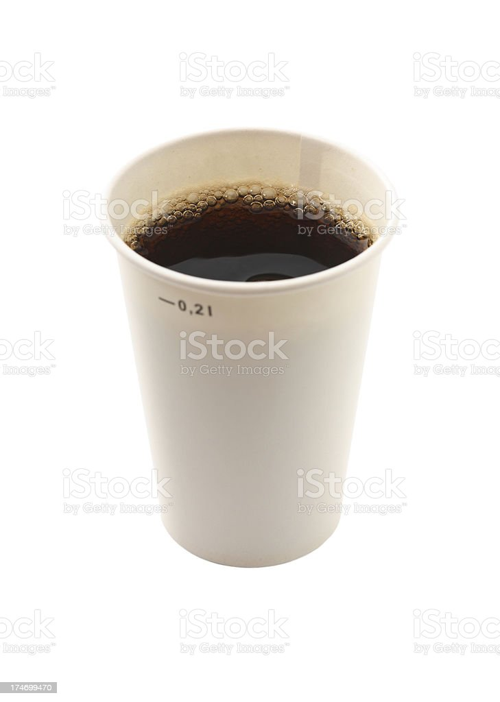 Cup of cola royalty-free stock photo