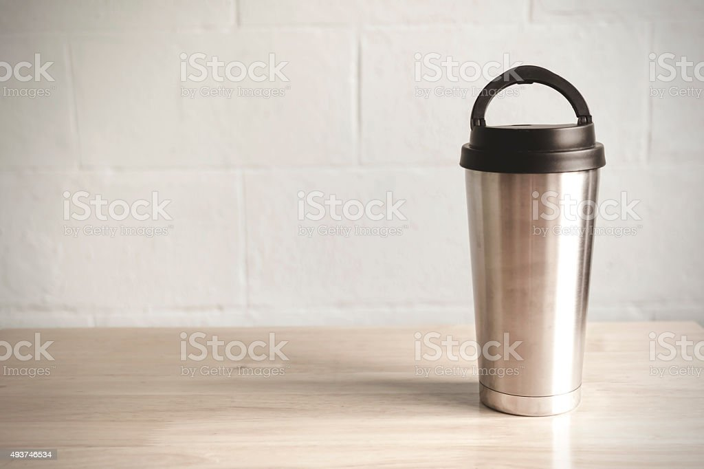Cup of cold coffee on table royalty-free stock photo