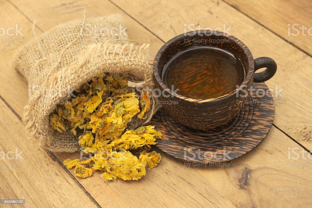 Cup of Crysanthemum tea stock photo