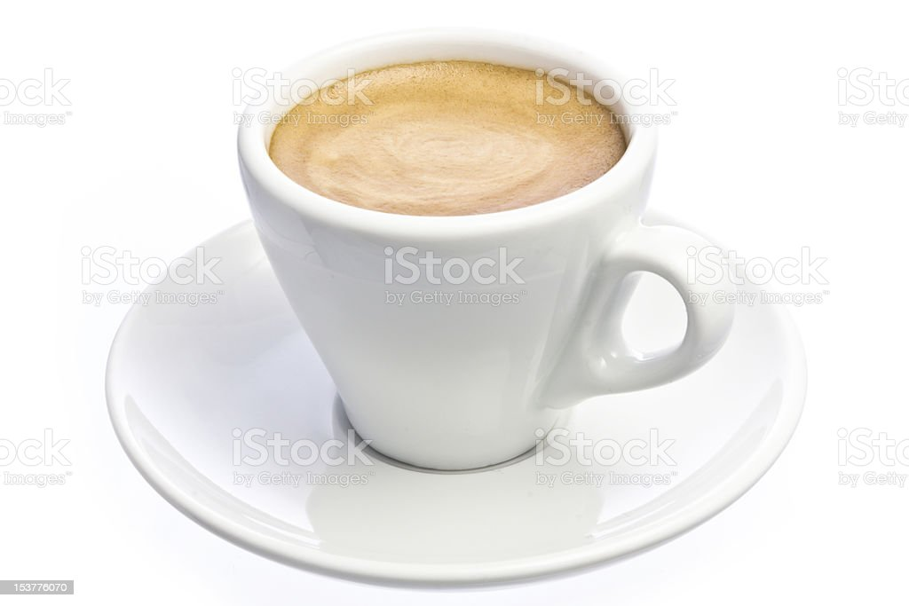 Cup of espresso Coffee isolated over white stock photo