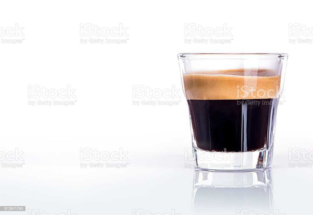 Cup of espresso coffee stock photo