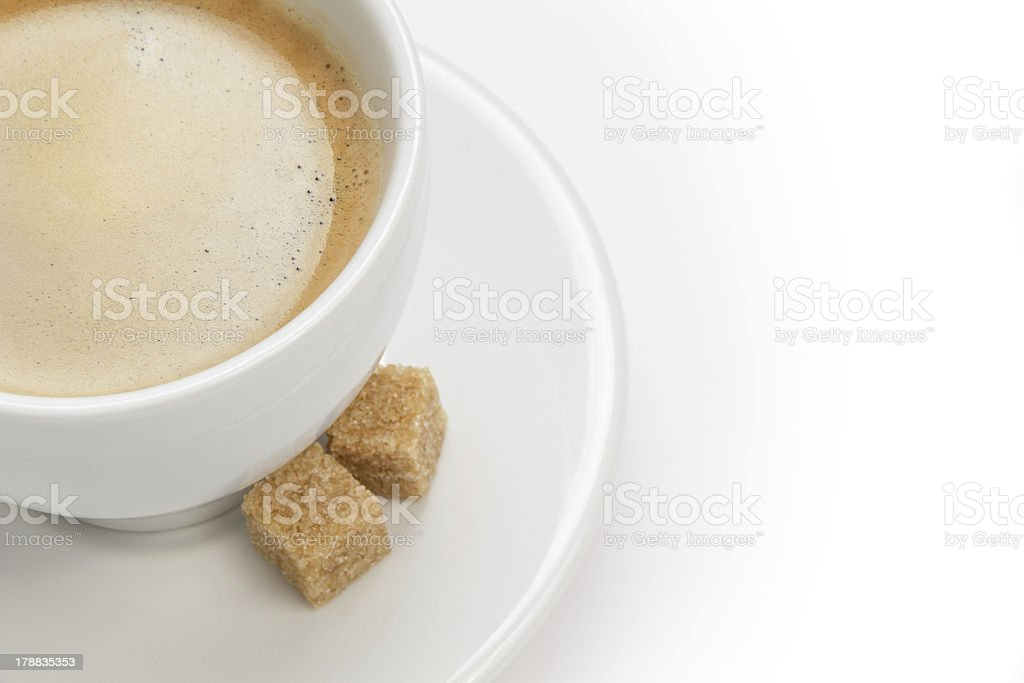 cup of espresso with cane sugar royalty-free stock photo