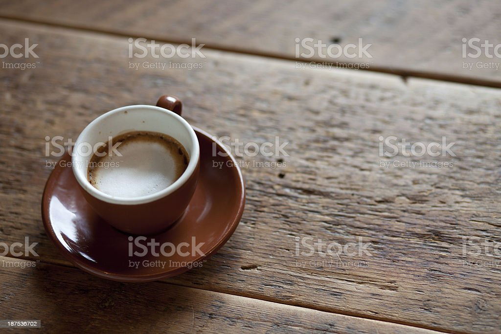 cup of espresso with foam - horizontal royalty-free stock photo