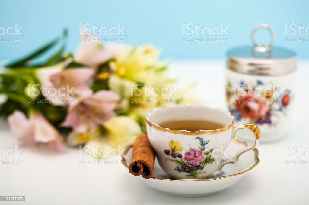 Cup of fresh tea royalty-free stock photo