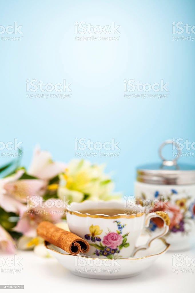 Cup of fresh tea stock photo