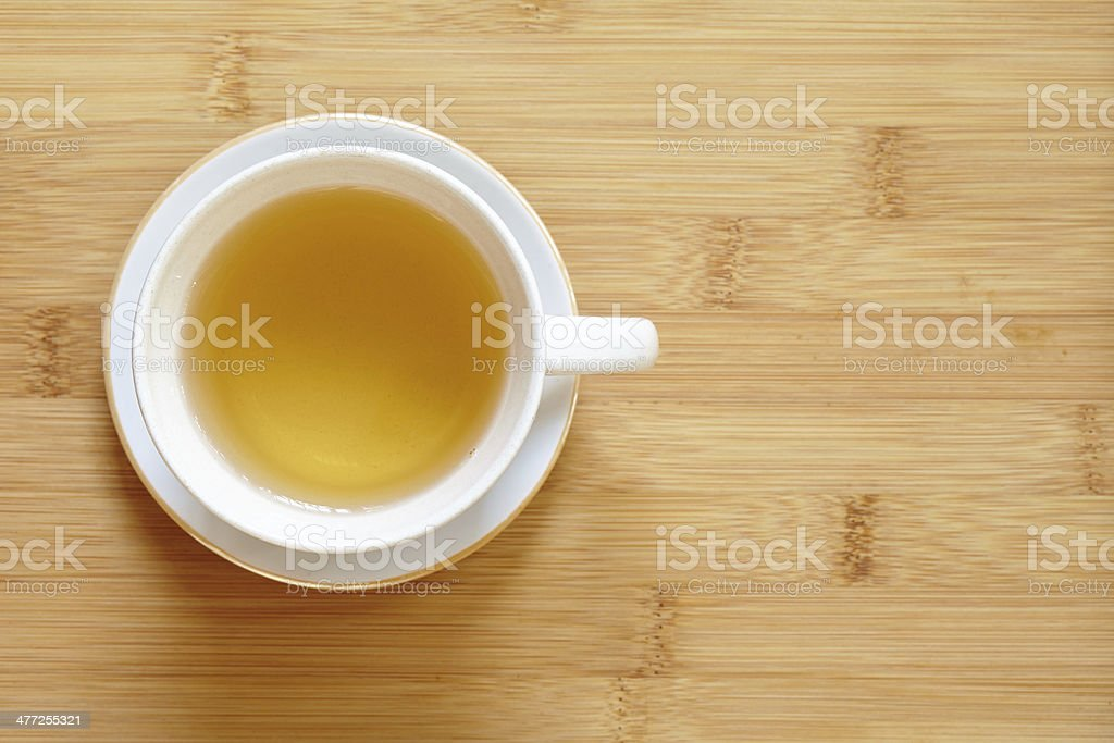 Cup of green tea on table royalty-free stock photo
