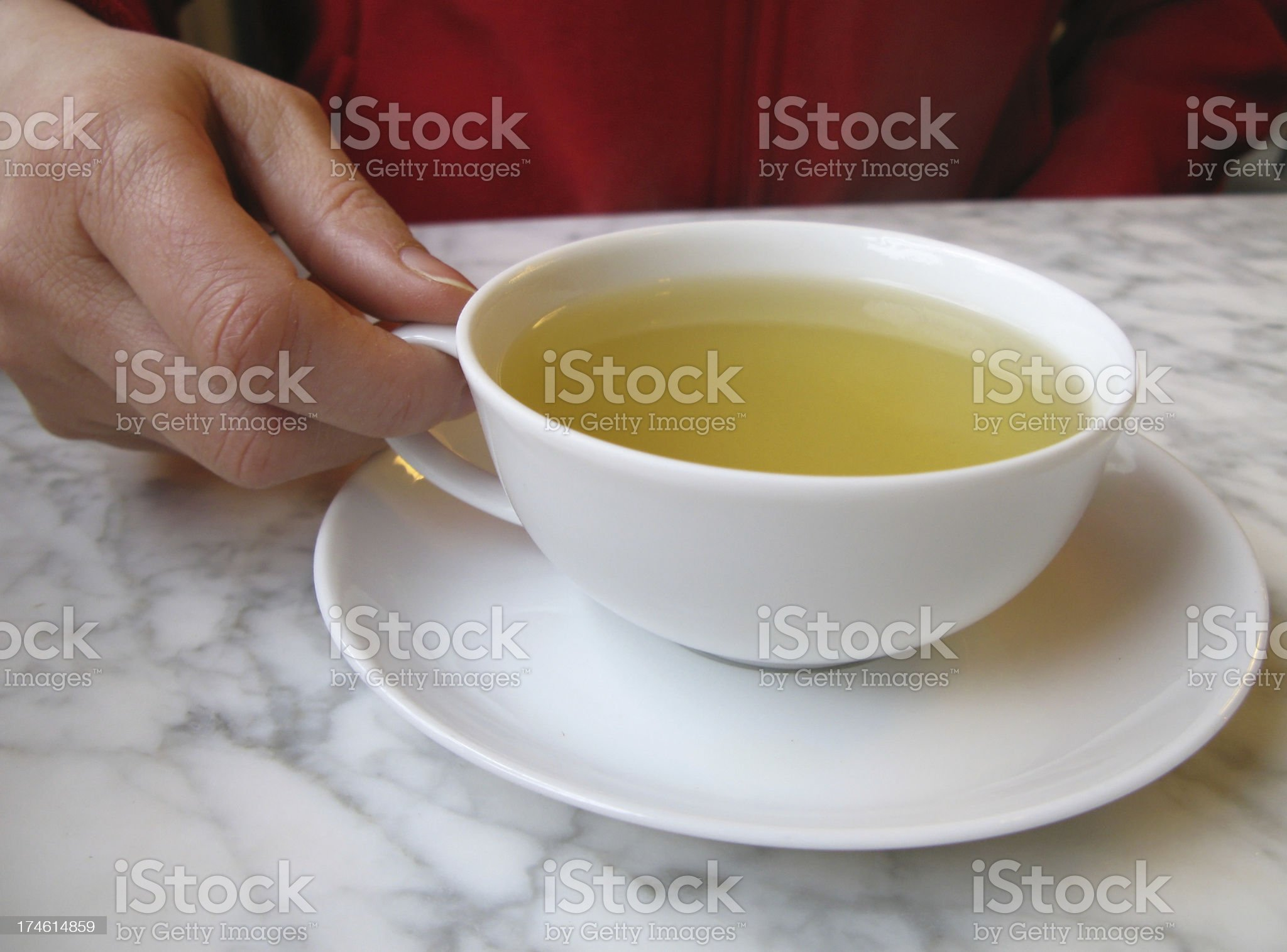 Cup of green tea royalty-free stock photo